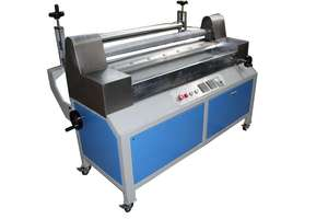 Double roller hot melt glue laminating machine